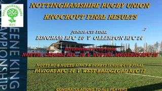 Notts RFU - Knockout Cup Finals Day