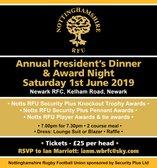 Nottinghamshire RFU President's Dinner