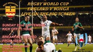 Rugby World Cup - England v Tonga