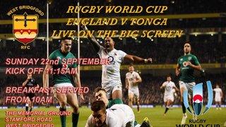 England v Tonga