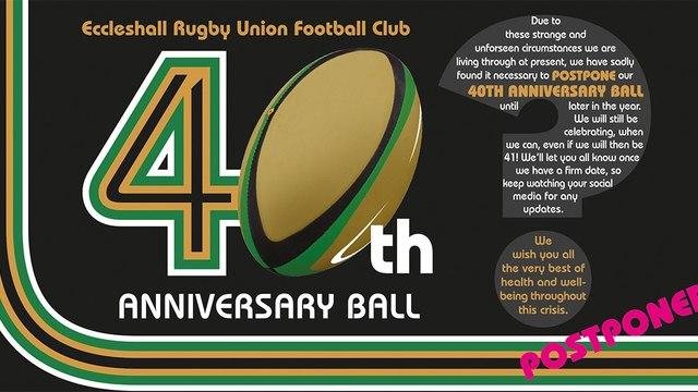 ERUFC 40th Anniversary Ball is POSTPONED
