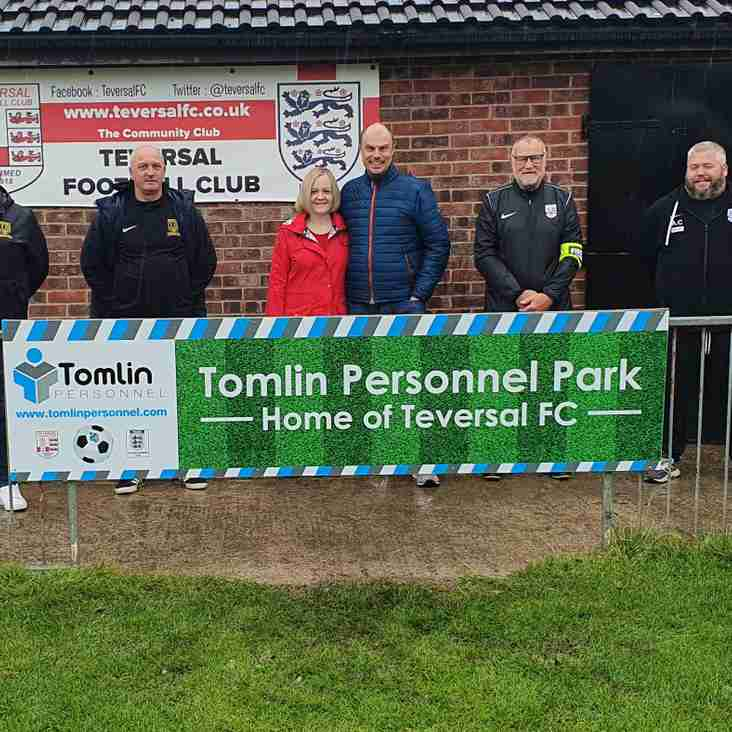 Massive Signing For Tevie As Tomlin Personnel Ltd Become Main Sponsors