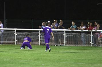 Liam Hope celebrates his 2nd goal with the Town Fans