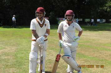 Smallest opening partnership in ACC history, Kash (left) Sam Dennis (right)