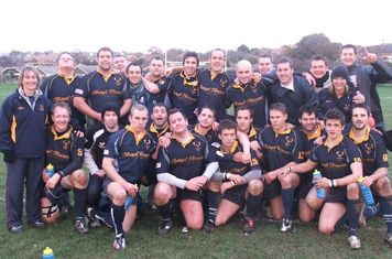 Teddington 1st XV - our first competitive 'overseas' fixture - away to Sandown & Shanklin RFC on The Isle of Wight (RFU Junior Vase Nov 2008)