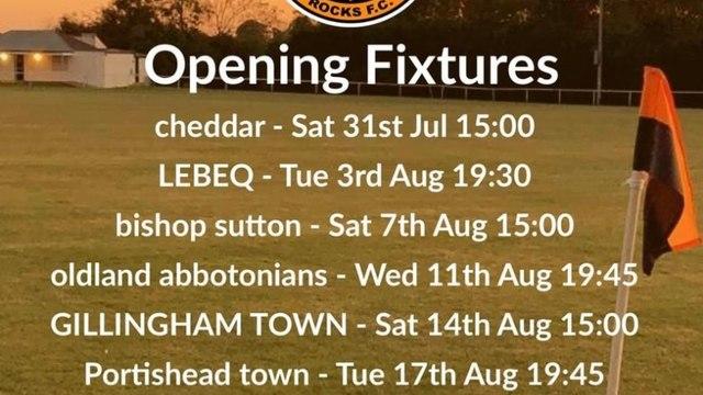 Tyherington Rocks upcoming fixtures