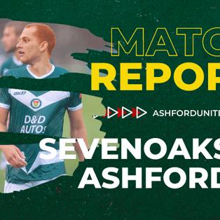 MATCH REPORT: SEVENOAKS TOWN 0-3 ASHFORD UNITED