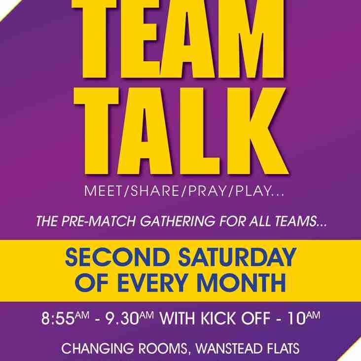Team Talk - Saturday 9th October; 2021