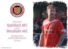 Photos: Daniels v Wrexham AFC (15.10.16)