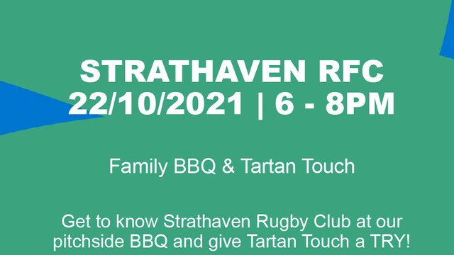 Friday 22nd October: Family BBQ & Tartan Touch