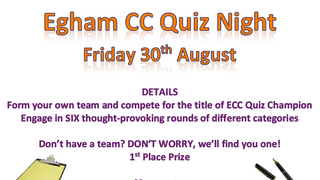 Quiz Night - Friday 30th August - 7.30pm