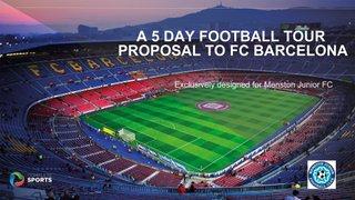 MJFC Tour Part 2 - Barcelona Easter 2020 Presentation, Menstone Club, 5th June 2018 @ 6.30pm