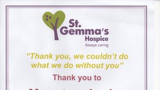 A thank you from St Gemma's Hospice