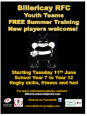 Boys Youth Summer Training Programme starts from Tuesday 11th June