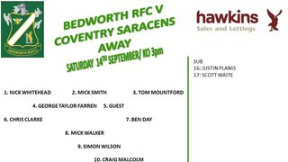 Bedworth Extras vs Coventry Saracens