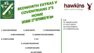 Bedworth Extras vs Coventrians 2's  RFC