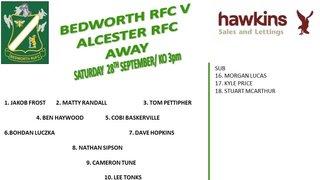 Bedworth RFC away to Alcester RFC
