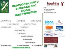 Bedworth RFC vs Burbage RFC
