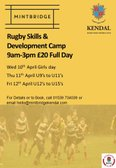 Come along to Kendal Rugby Camps .. only £20!