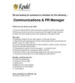 The Club is looking for a Communication and PR Officer