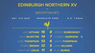 Preseason Friendly vs Bishopton - Lineup