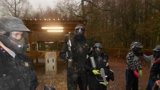 Milton United FC Youth Teams Paintballing