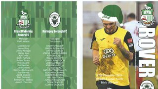 Rovers 1 Haringey Borough 4 - 17th December 2016 (1st half only due to weather conditions)