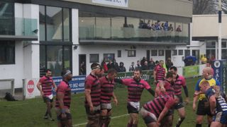 A 15 man Sale side defeat second place Stourbridge but have to wait 50 minutes for their final score and Bonus Point try with last play of the game.