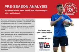 Pre-season analysis