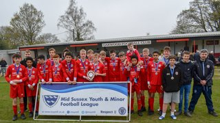 Sun 7th April: CDG U15 Anvils lift the MSL U15 Plate Trophy