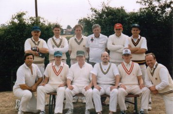 Back: Geoff Hobbs, ??, Tony Read, Bob Mills Snr, Chris Groom, ??. Front: Bob Mills, ??, ??, ??, ??, Tony Brown.