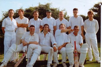 Back: Mick Steele, Andy Taylor, Greg Morrison, Neil Morrison, Craigy, Ian Coulson, Phil Aldridge. Front: Pete Philips, Bob Mills, Dave Cogan, John Sellwood