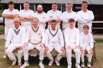 Back: Bob Mills, Mick Coggin, Nick Sharp, Pete Philips, Dick Wright, Phil Maule. Front: Craigy, Tony Brown, John Sellwood, Ian Foxwell, Bobby Mills