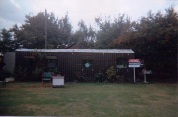 Before the portacabin, this is now the changing rooms