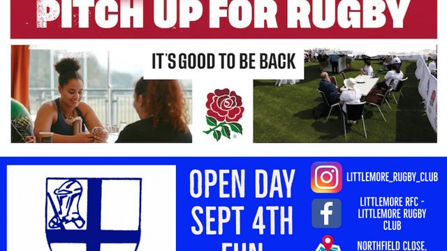 PITCH UP FOR RUGBY