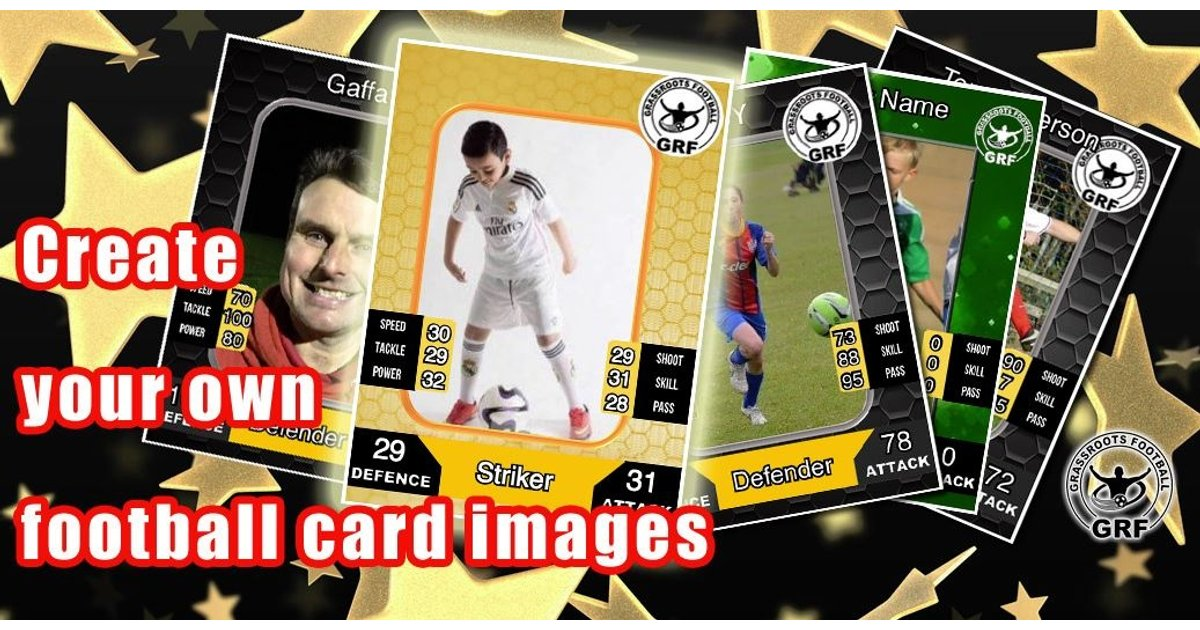 Create your own Match Attax type football cards