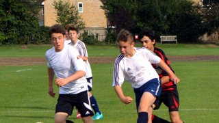 U14 White 9 Histon Hornets Blue 0