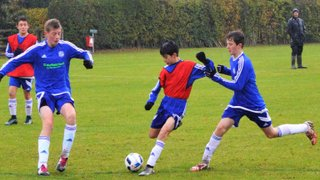 U14 Reds (in blue) 0 U14 Whites (in red) 3