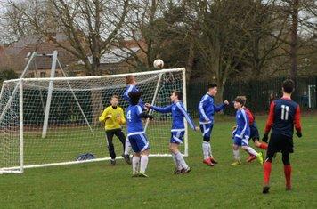 Haddenham see a free-kick saved