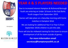 Saturday Footballers Needed!