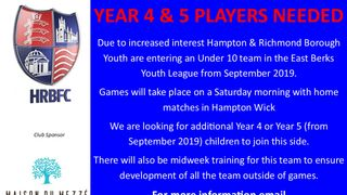 Saturday Footballers Needed!