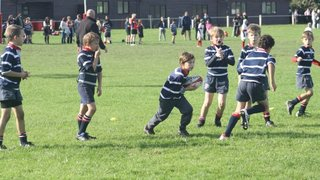 U9s First Game Playing Contact Rugby