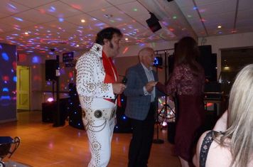 Elvis won no club awards - but did a good job on the mike