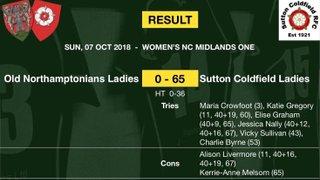 Women's Team - Match report - Sunday 7th Oct 2018