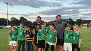 Wasps players visit Sutton