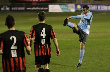 Enfield's Aryan Tajbakhsh shoots from distance