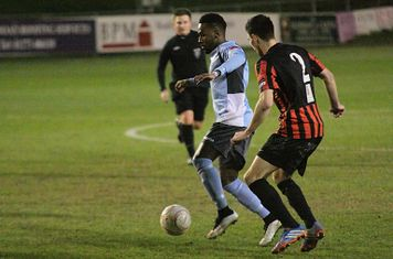 Enfield's Bobby Devyne (L) and Sam Crabb of Lewes