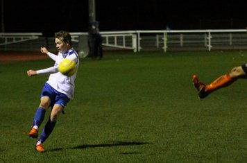 Enfield's Mickey Parcell crosses
