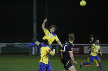 Enfield's Harry Ottaway flicks the ball on