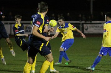 Enfield's Billy Crook shoots from the edge of the box